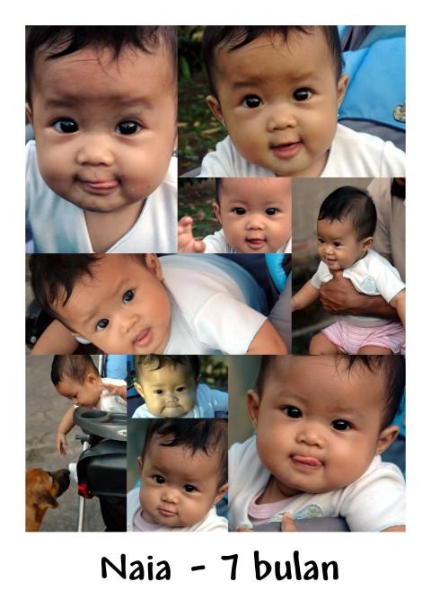 foto-foto Naia menjelang 7 bulan